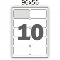 Полуглянцевая этикетка А4 (100 листов) /10 закругленные углы/  (96x56 мм)