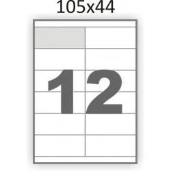 Самоклеющаяся бумага А4 (100 листов) /12/  (105x44мм.)