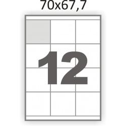 Самоклеющаяся бумага А4 (100 листов) /12/  (70x67мм.)