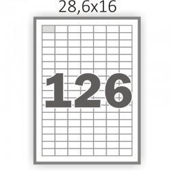 Полуглянцева самоклеющаяся бумага А4 (100 листов) /126/  (28.6x16мм.)