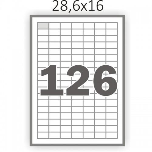 Полуглянцева самоклеющаяся бумага А4 (100 листов) /126/  (28x16 мм)