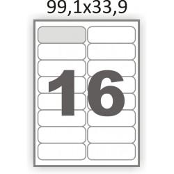 Полуглянцевая этикетка А4 (100 листов) /16/  (99x34 мм) закругленные углы
