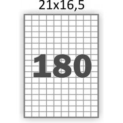 Самоклеющаяся бумага А4 (100 листов) /180/  (21x16 мм)