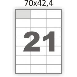 Самоклеющаяся бумага А4 (100 листов) /21/  (70x42,4 мм)