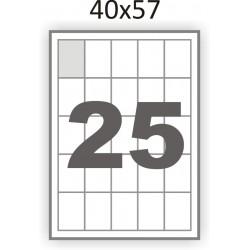 Самоклеющаяся бумага А4 (100 листов) /25/  (40x57 мм)