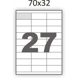 Самоклеющаяся бумага А4 (100 листов) /27/  (70x32мм.)