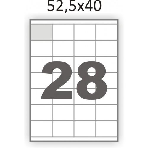 Самоклеющаяся бумага А4 (100 листов) /28/  (52,5x40мм.)