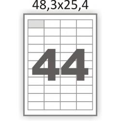 Полуглянцевая этикетка А4 (100 листов) /44/  (48,3x25,4 мм)