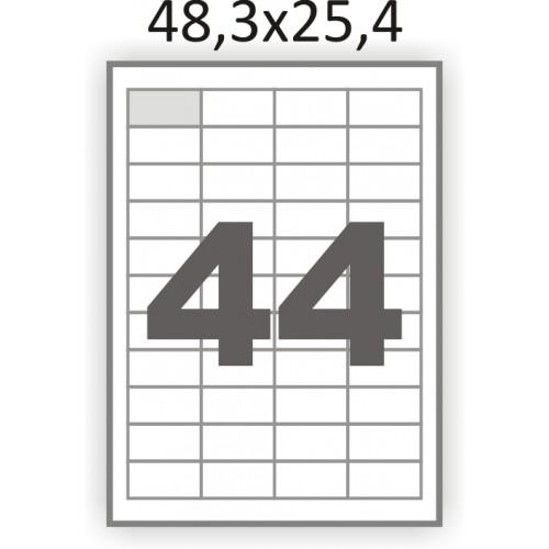 Полуглянцевая этикетка А4 (100 листов) /44/  (48x25мм.)