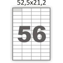 Самоклеющаяся бумага А4 (100 листов) /56/  (52x21мм.)