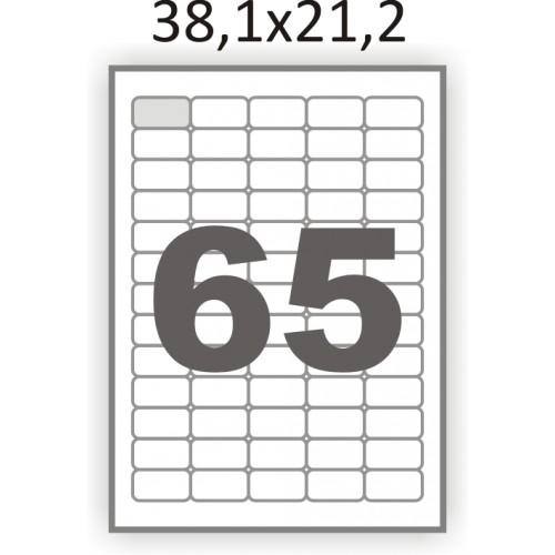 Самоклеющаяся бумага А4 (100 листов) /65/  (38x21мм.) закругленные углы
