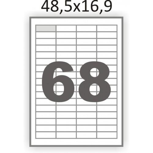 Самоклеющаяся бумага А4 (100 листов) /68/  (48x16мм.)