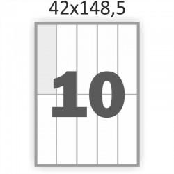 Самоклеющаяся бумага А4 (100 листов) /10/  (42x148,5 мм)