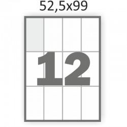 Самоклеющаяся бумага А4 (100 листов) /12/  (52,5x99 мм)