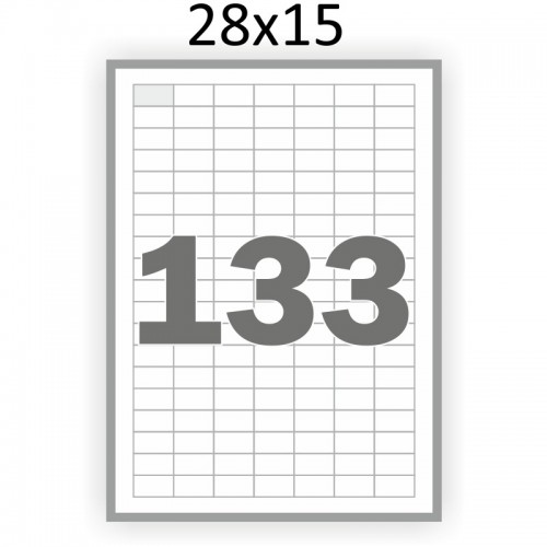Самоклеющаяся бумага А4 (100 листов) /133/  (28x15 мм)