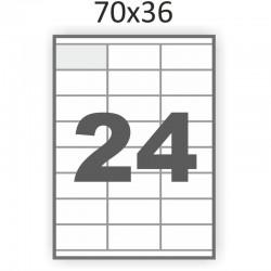 Самоклеющаяся бумага А4 (100 листов) /24/  (70x36 мм)