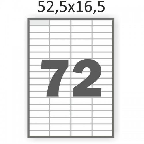 Самоклеющаяся бумага А4 (100 листов) /72/  (52,5x16,5 мм)