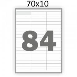 Самоклеющаяся бумага А4 (100 листов) /84/  (70x10 мм)