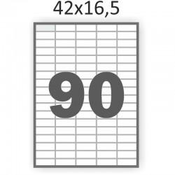 Самоклеющаяся бумага А4 (100 листов) /90/  (42x16,5 мм)