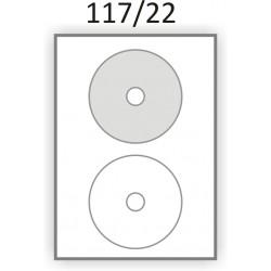 Самоклеющаяся бумага А4 (100 листов) /CD/  (117/22мм.)