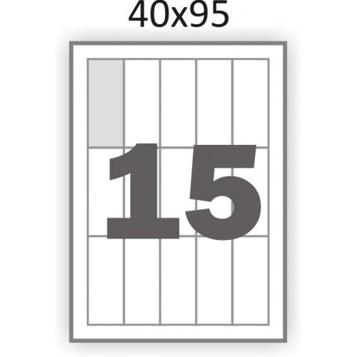 Самоклеющаяся бумага А4 (100 листов) /15/  (40x95мм.)
