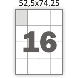 Самоклеющаяся бумага А4 (100 листов) /16/  (52,5x74,25 мм)