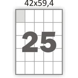Самоклеющаяся бумага А4 (100 листов) /25/  (42x59,4мм.)