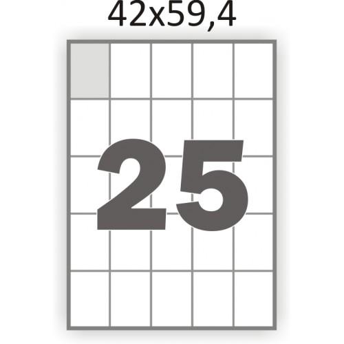 Самоклеющаяся бумага А4 (100 листов) /25/  (42x59,4 мм)