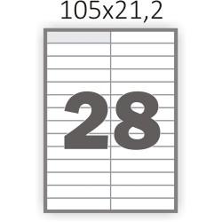 Самоклеющаяся бумага А4 (100 листов) /28/  (105x21,2 мм.)