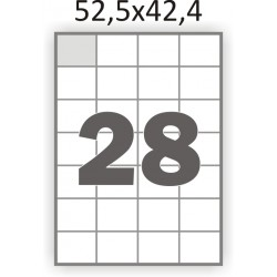 Самоклеющаяся бумага А4 (100 листов) /28/  (52,5x42,4 мм)