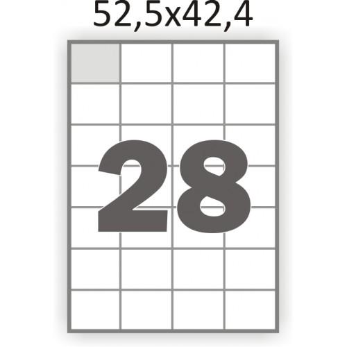 Самоклеющаяся бумага А4 (100 листов) /28/  (52,5x42,4 мм.)