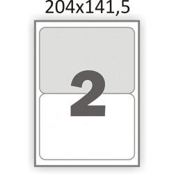 Самоклеющаяся бумага А4 (100 листов) /2/  (204x141,5мм.)
