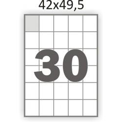 Самоклеющаяся бумага А4 (100 листов) /30/  (42x49,5мм.)