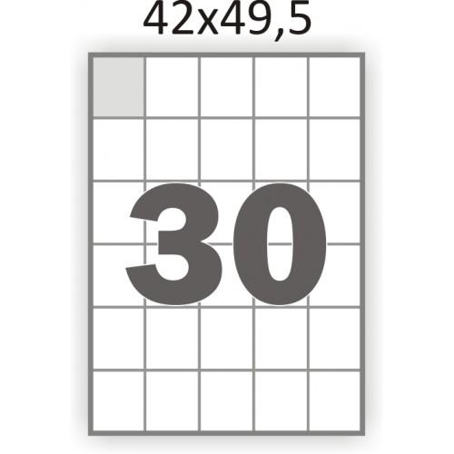 Самоклеющаяся бумага А4 (100 листов) /30/  (42x49,5 мм)
