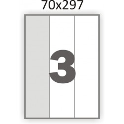 Самоклеющаяся бумага А4 (100 листов) /3/  (70x297мм.)
