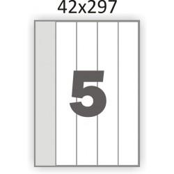 Самоклеющаяся бумага А4 (100 листов) /5/  (42x297 мм)