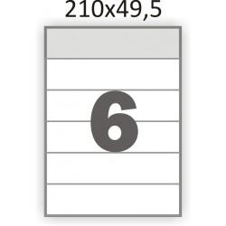 Самоклеющаяся бумага А4 (100 листов) /6/  (210x49,5 мм)
