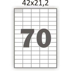 Самоклеющаяся бумага А4 (100 листов) /70/  (42x21,2 мм)
