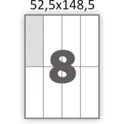 Самоклеющаяся бумага А4 (100 листов) /8/  (52,5x148,5 мм)