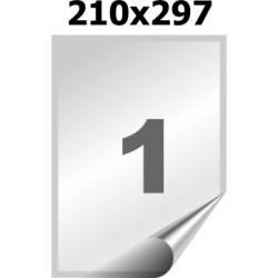 Самоклеящаяся пленка А4 (25 листов) /1/  (210x297 мм) (прозрачная глянцевая)