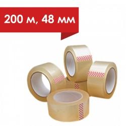 Скотч упаковочный (прозрачный) 48 мм/ 200 метров (40 мкм)