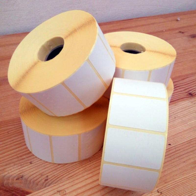 Этикетки бумажные полуглянец